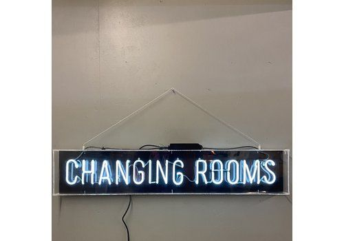 Neon Changing Rooms Signage