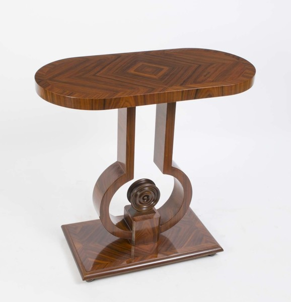 Art Deco Style Rosewood Console Side Table photo 1
