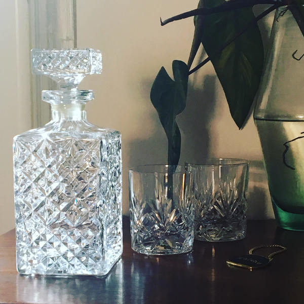 Crystal   Midcentury Wiskey Decanter Whiskey   Decanter