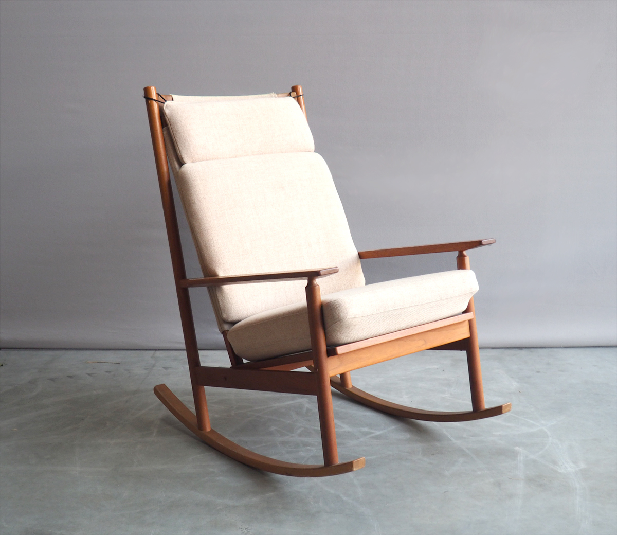 brand new 16c1b c527e Model 532 A Rocking Chair From Hans Olsen For Juul Kristensen, 1960s