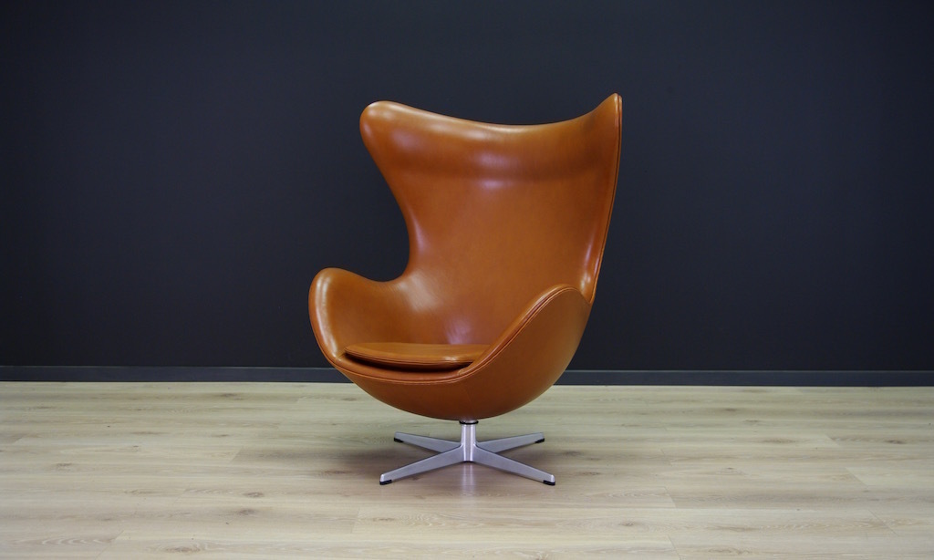Egg Chair Cognac.Cognac Leather Egg Chair By Arne Jacobsen For Fritz Hansen 1960s