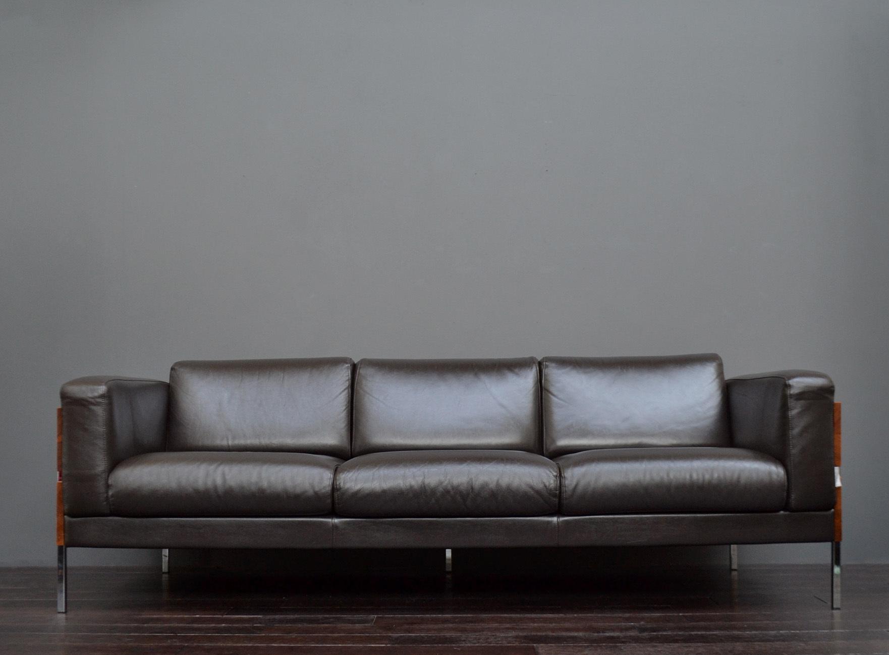 Phenomenal Original Mid Century Design Forum Dark Brown Leather Sofa By Robin Day For Habitat Ibusinesslaw Wood Chair Design Ideas Ibusinesslaworg