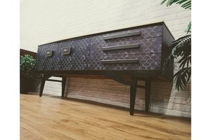 Thumb luxury vintage art deco gatsby tv media unit sideboard credenza buffet console cocktail drinks bar 1960s 0