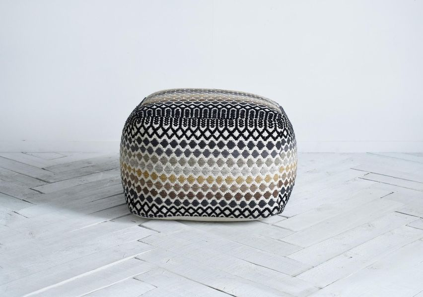 Helsinki Pouffe In Natural Dark Tones