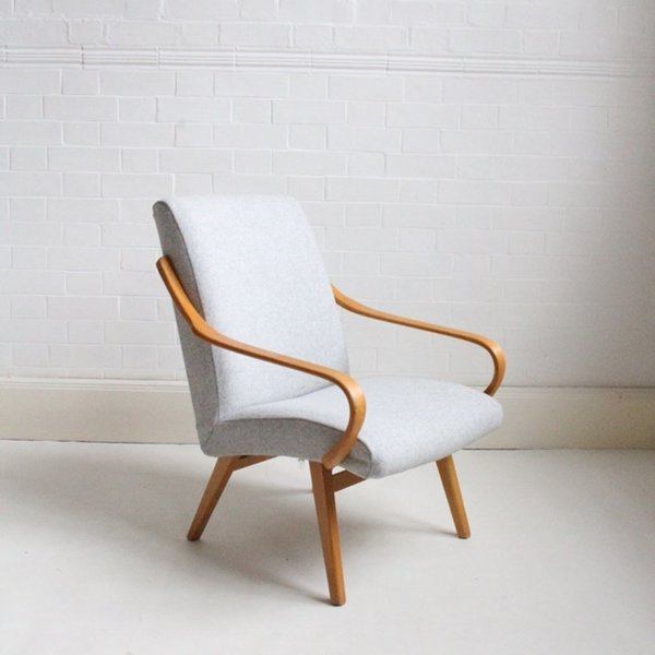 Midcentury Grey Lounge Chair