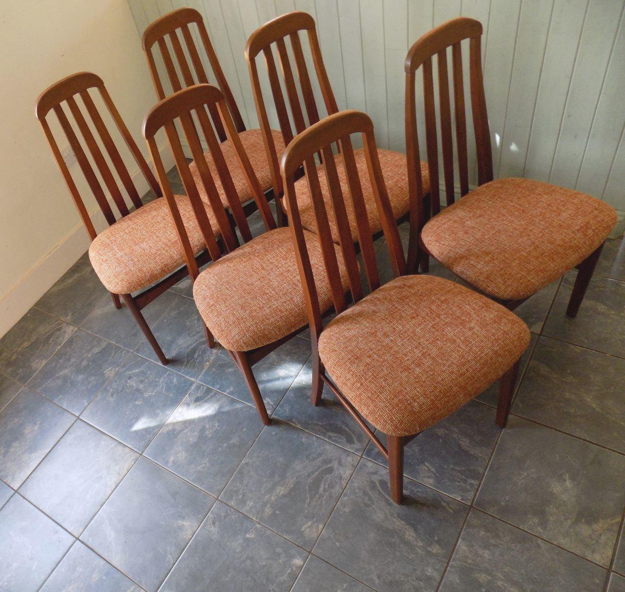 Fine Jentique Teak Dining Chairs Set Of 6 Scandinavian Style Vintage Mid Century Sixties Lamtechconsult Wood Chair Design Ideas Lamtechconsultcom