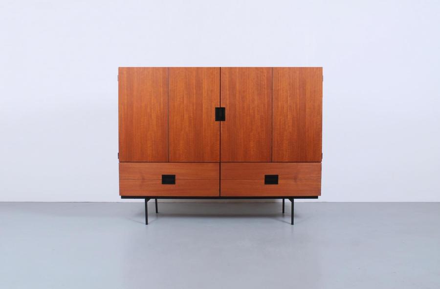 Cu04 Teak Highboard Cabinet By Cees Braakman For Pastoe, Japanese Series