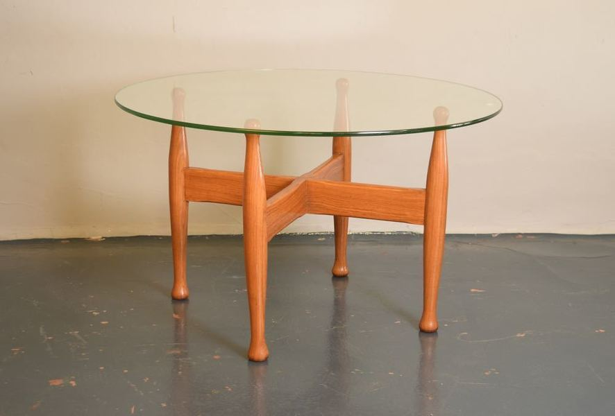 Rosewood And Glass Coffee Table