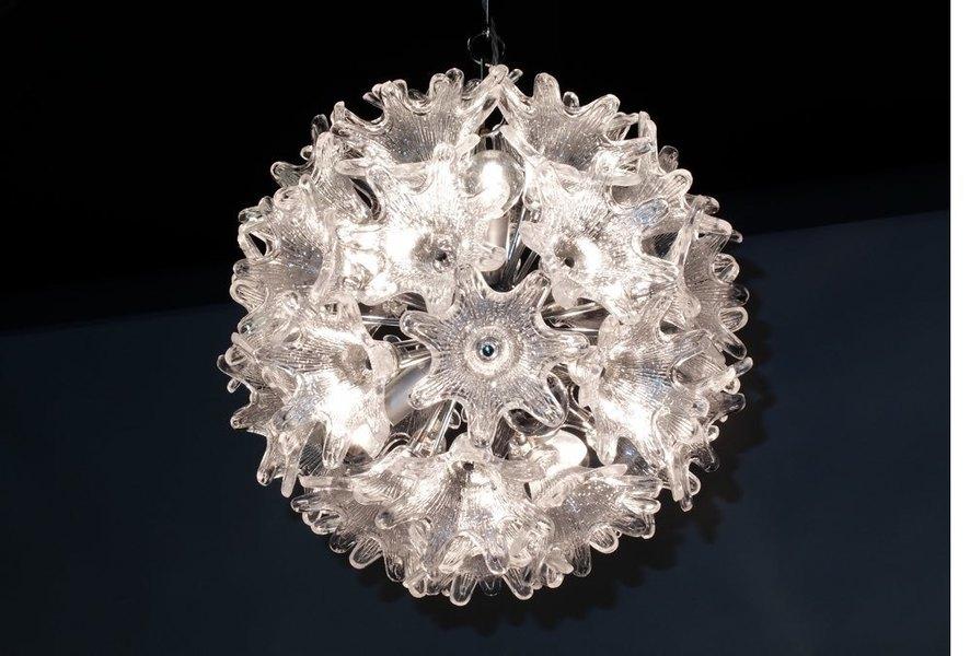 Murano Glass Flower Chandelier photo 1