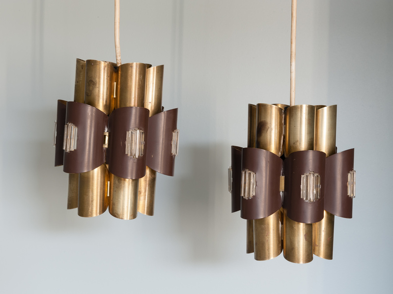 Pair Of Werner Schou For Coronell Electro Pendant Lights
