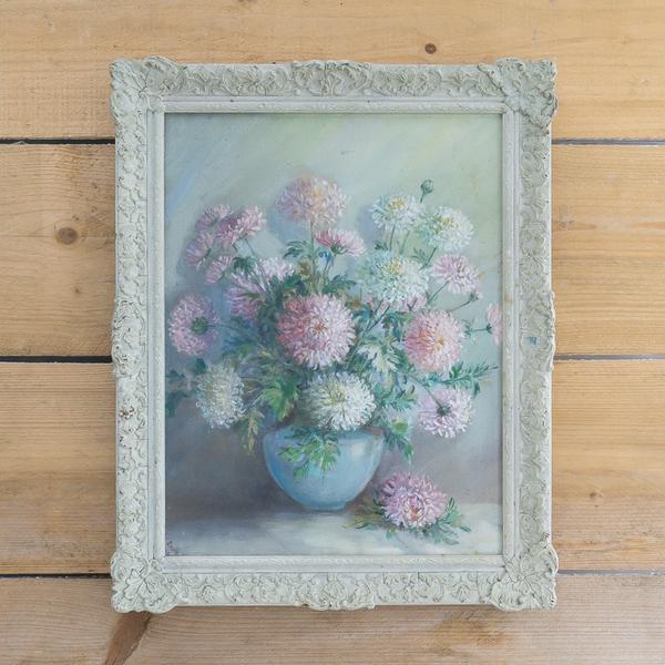 Pastel Floral Oil Painting