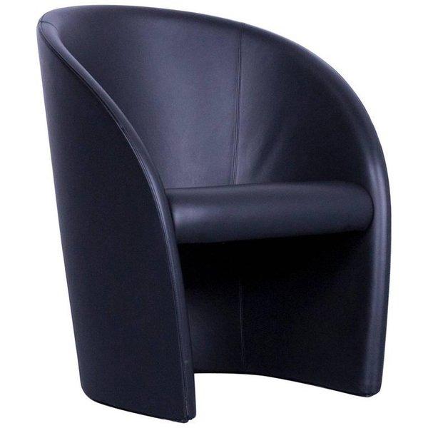 Intervista Poltrona Frau.Poltrona Frau Intervista Designer Leather Armchair Black One Seat