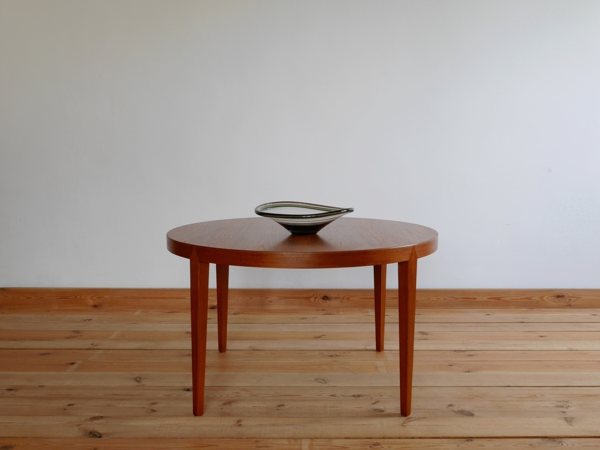 Danish Teak Round Coffee Table By Severin Hansen For Haslev 1960s
