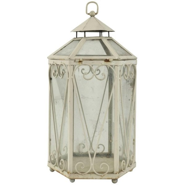 Wrought Iron Lantern In The Shape Of A Miniature Greenhouse