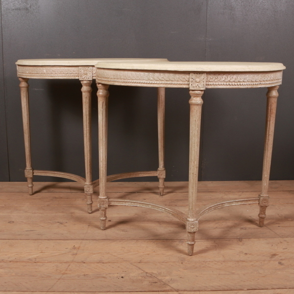 Pair Of Late 19th C Swedish Console Tables. 1890