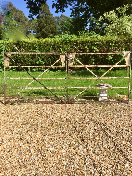 Vintage Wrought Iron Estate Gates