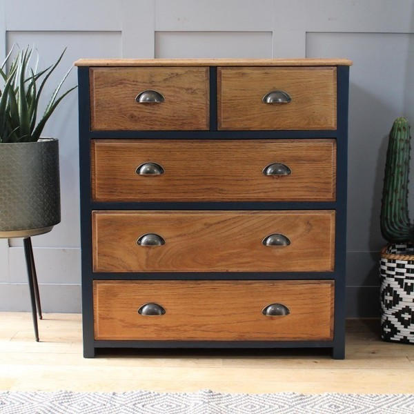Stripped Oak Chest Of Drawers