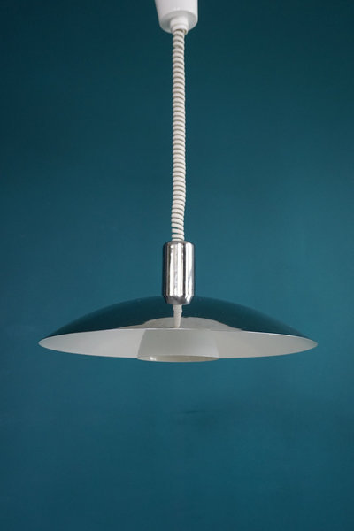Vintage Scandinavian Chrome Rise & Fall Lamp