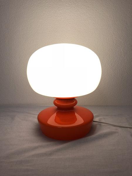 Vintage All Glass Table Lamp By štepán Tabera