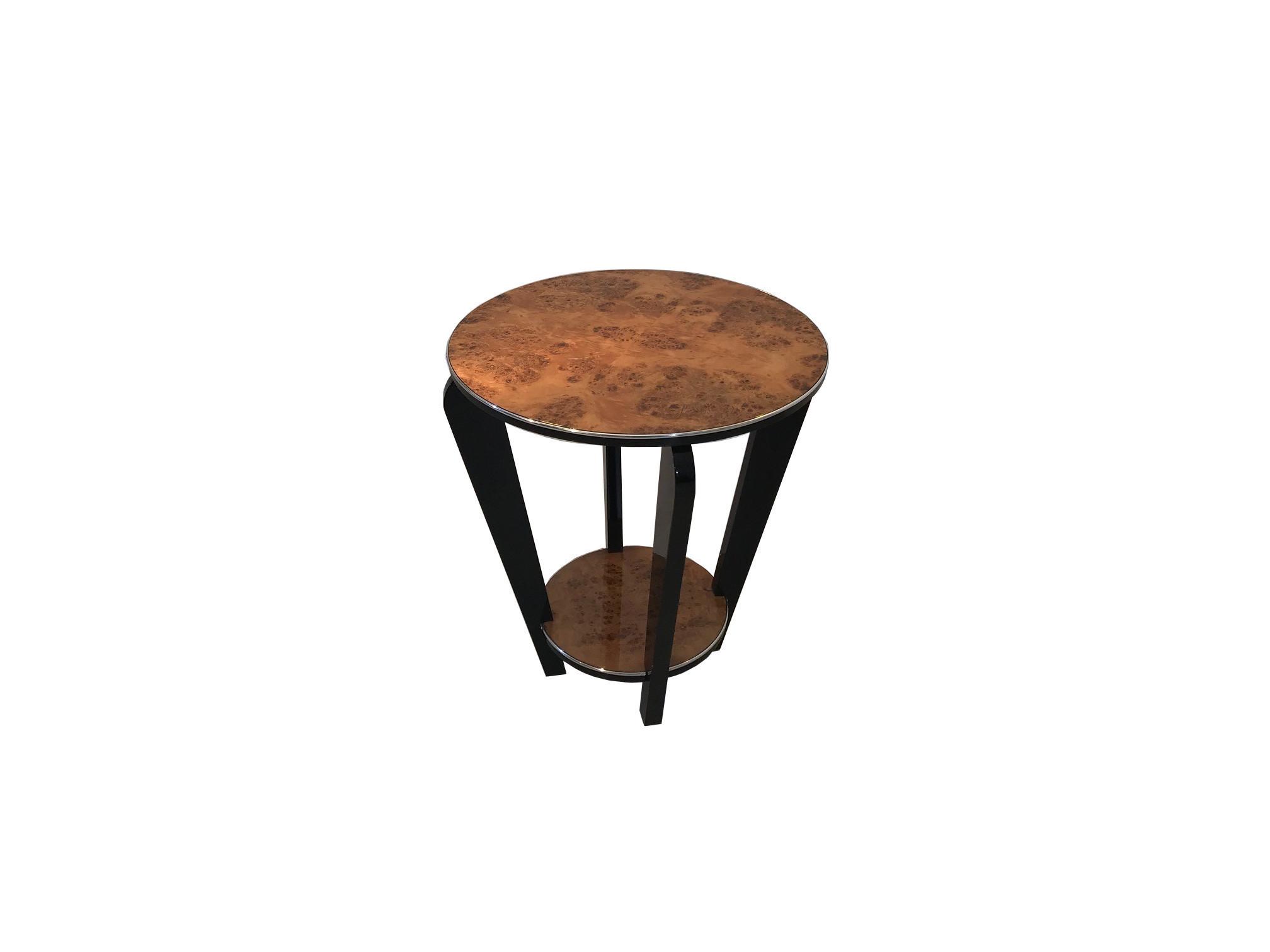 burl art deco side table 0