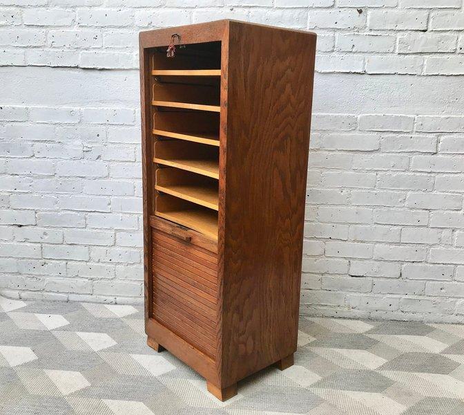 Vintage Filing Cabinet Tambour Haberdashery #702
