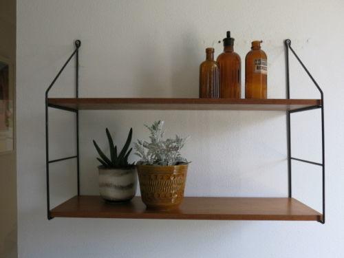 Vintage Mid Century String Shelving Unit 20th Century Shelves