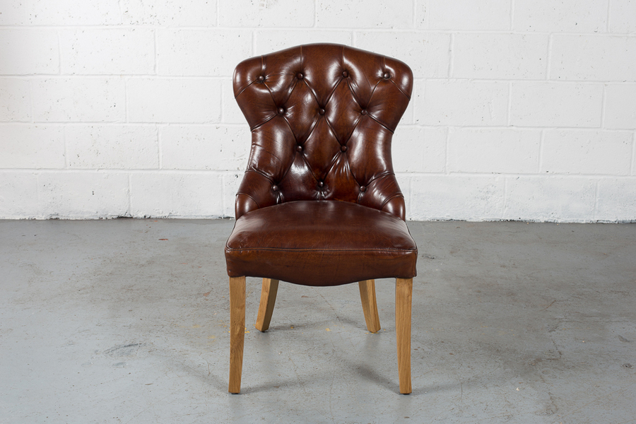 Deep Buttoned Dining Chair