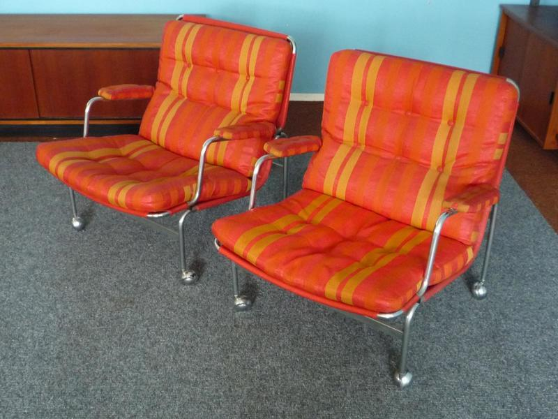 Swedish Karin Armchair By Bruno Mathsson For Dux, 1960s, Set Of 2