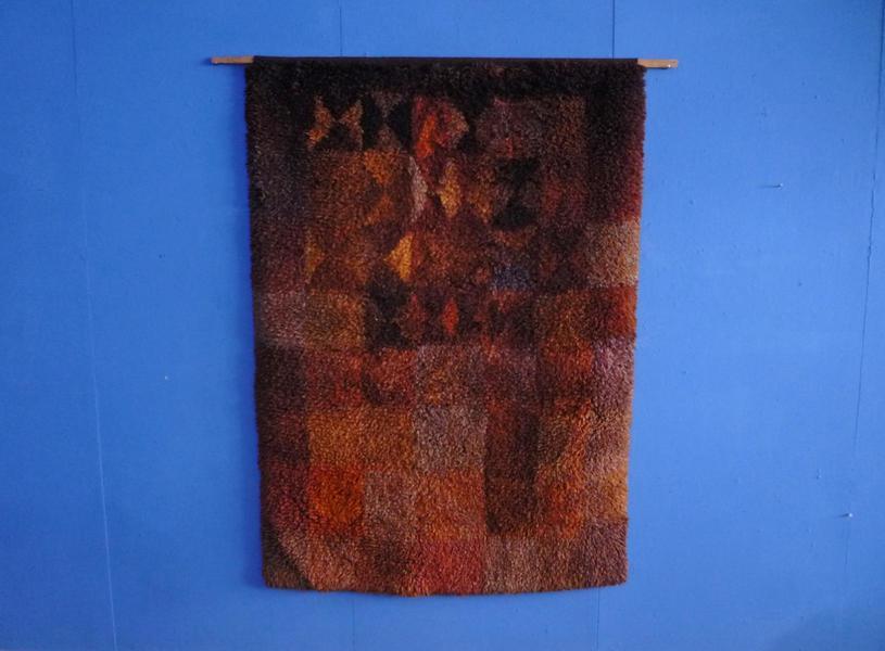 Finnish Handwoven Wool Rug By Ritva Puotila, 1978