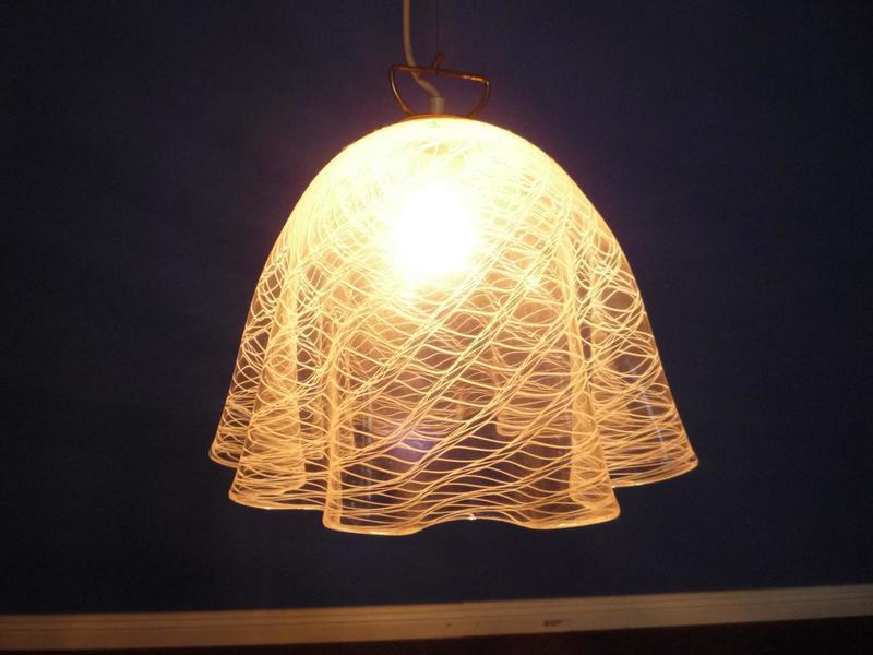 Fazzoletto Murano Glass Hanging Lamp By Jt Kalmar, 1960s