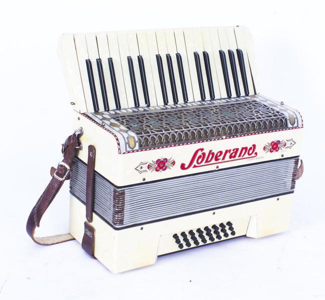 Vintage Soberano Piano Accordion With Case 20th C