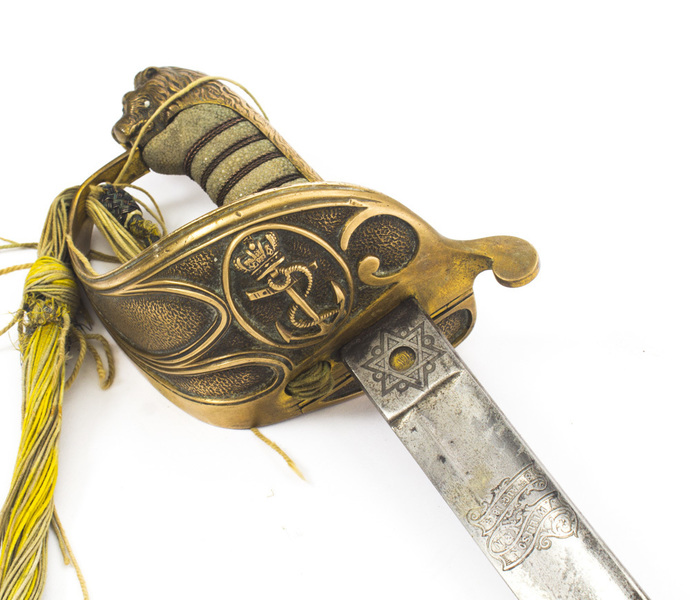 Antique Naval Officers Sword By Henry Wilkinson Shagreen 19th C