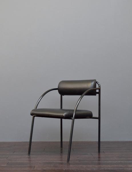 Vintage Mid Century Bauhaus Style Tubular Metal & Leatherette Desk / Lounge Chair