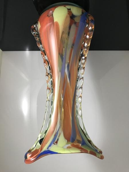 Polish Vase Made Of Artistic Glass, 1970s