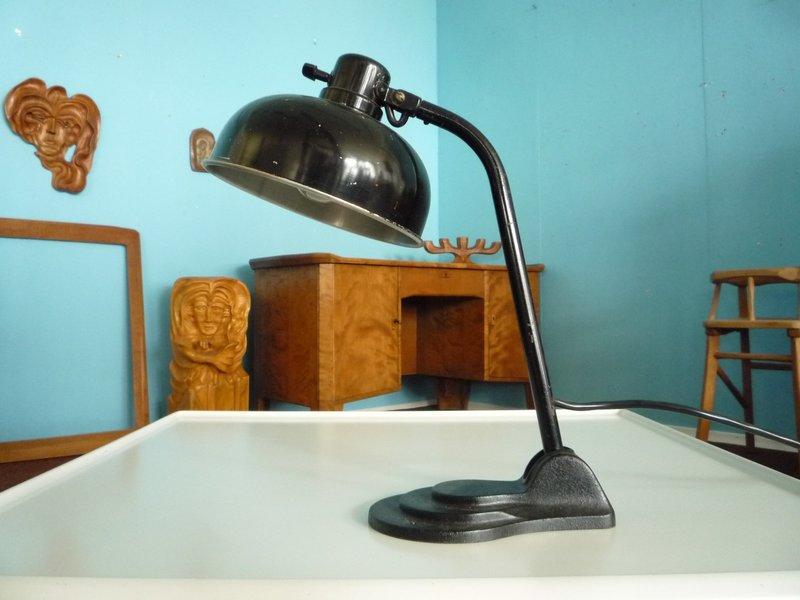 German Table Lamp Made Of Aluminum & Metal From Hala