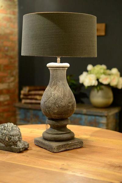 Gali Stone Table Lamp Grey