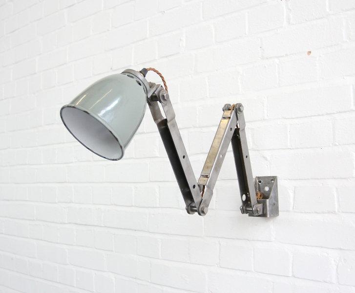 Rare Wall Mounted Industrial Task Lamp Circa 1930s