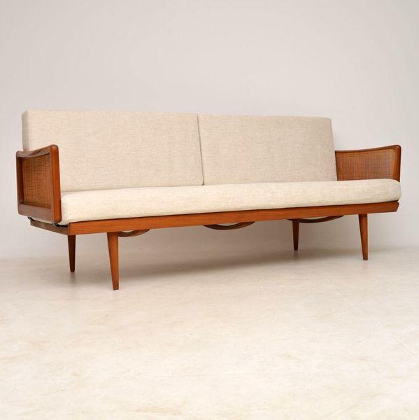 1950's Vintage Danish Teak Sofa By Peter Hvidt & Orla Mølgaard Nielsen