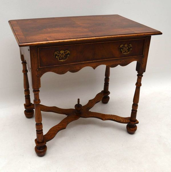 Antique William & Mary Style Walnut Side Table