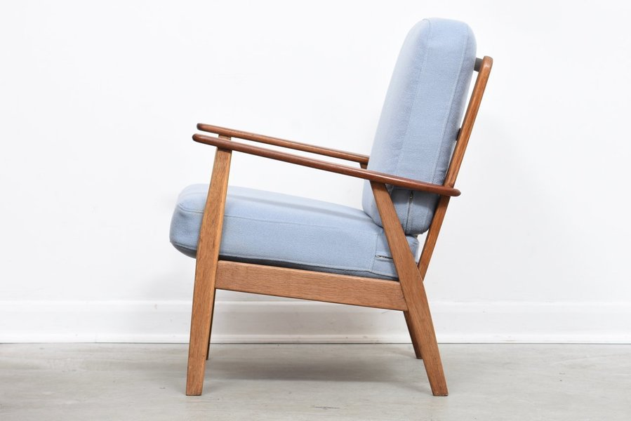 1950s Teak + Oak Lounge Chair