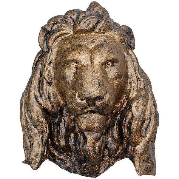 Oversized Wall Mounted Lion Head Sculpture, Late 20th Century
