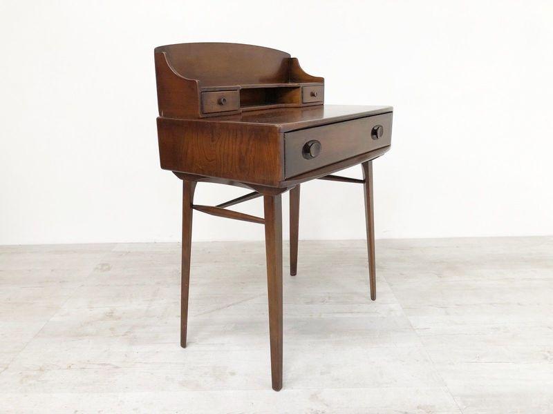 Rare Vintage Mid Century 1950s Ercol Elm Compact Desk Dressing Table 439 & 437