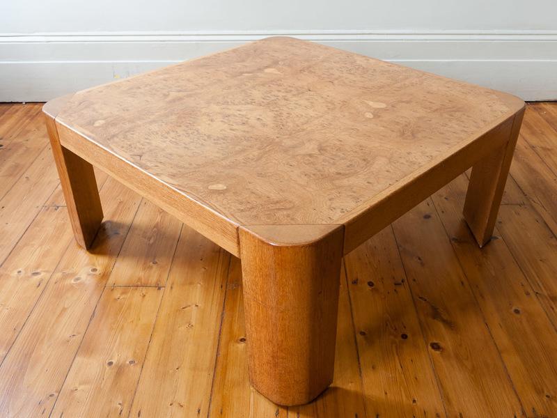 Large Burr Oak Square Coffee Table photo 1