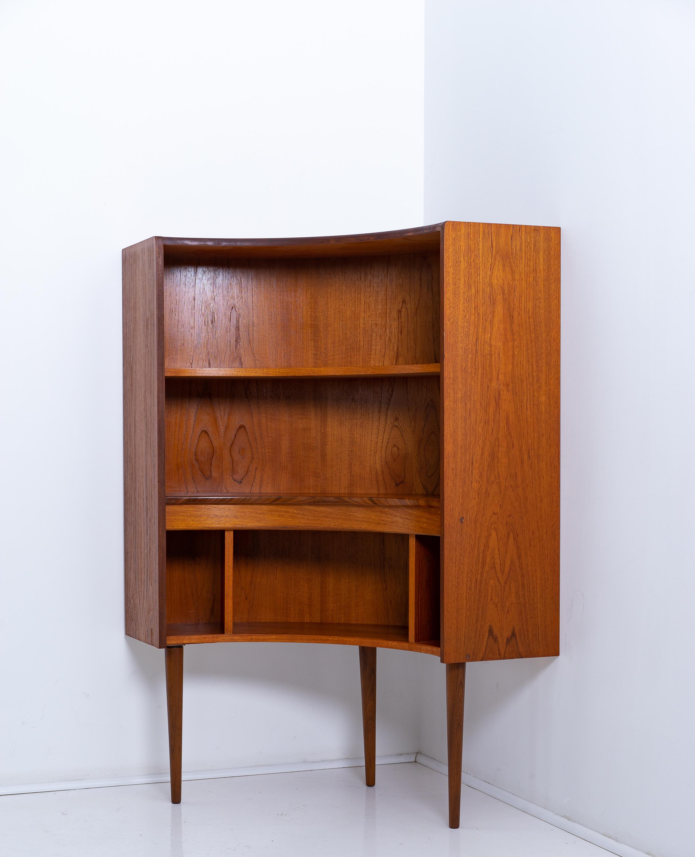 G Plan Teak Corner Bookcase Display Cabinet With Shelves Mid Century Vintage