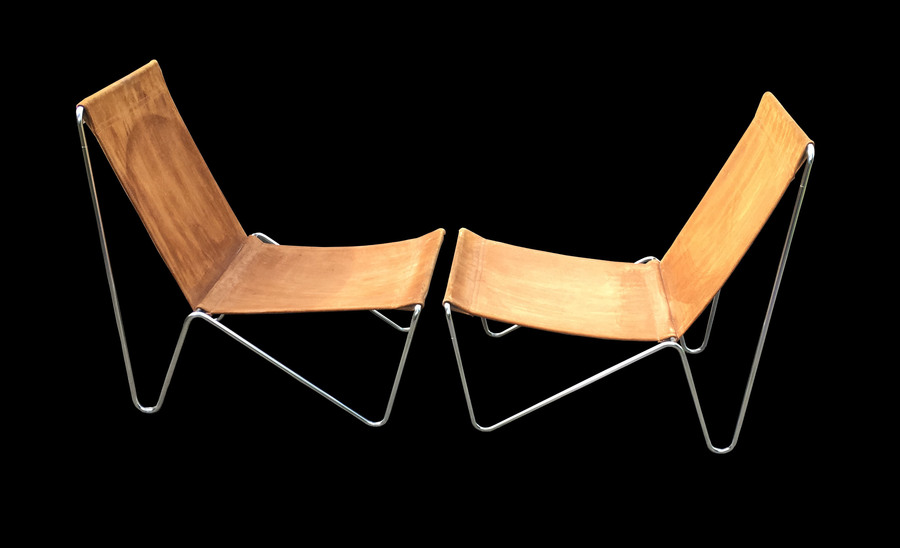 Pair Of Early Original Bachelor Chairs By Verner Panton For Fritz Hansen