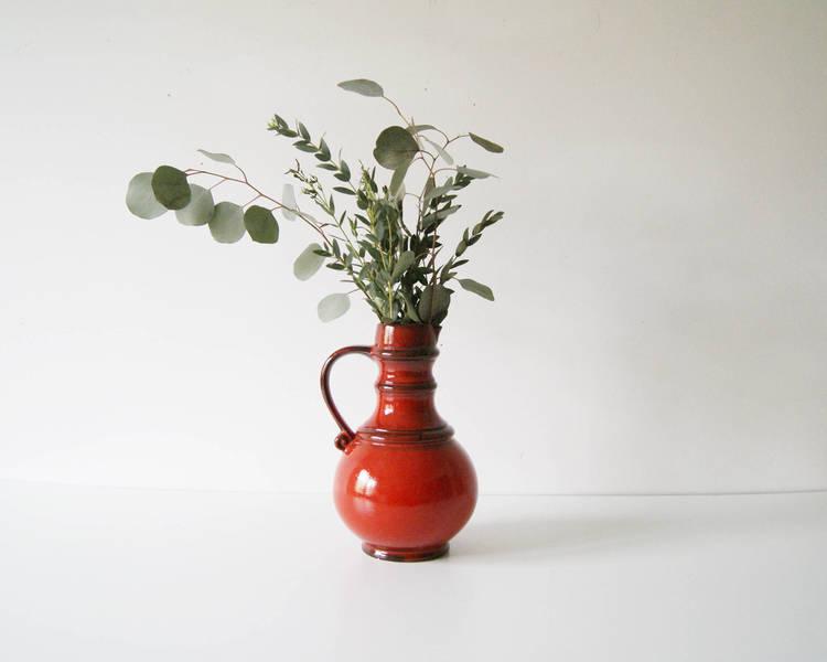 Vase Ceramics, Krugvase, Red Vase, Ceramics And Pottery