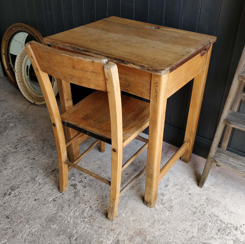 Vintage Child S Desk Wooden Desk Old Desk School Desk Kid S