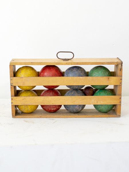 Wooden Boule Petanque Set